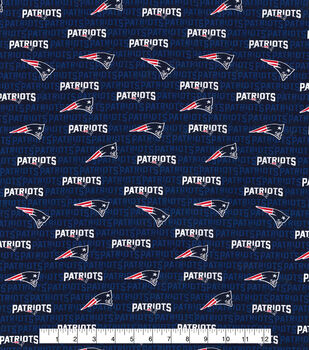 New England Patriots Cotton Fabric -Mini Print