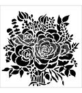 The Crafter\u0027s Workshop Carmen Medlin 6\u0027\u0027x6\u0027\u0027 Stencil-Rose Bouquet