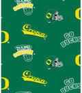 University of Oregon Ducks Fleece Fabric 58\u0022-Allover Green