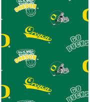 "University of Oregon Ducks Fleece Fabric 58""-Allover Green, , hi-res"