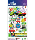 Sticko 184 Pack Flip Stickers-Road Trip