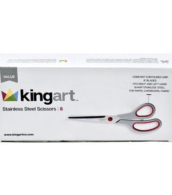KINGART Stainless Steel Scissors Value Pack 8/Pkg
