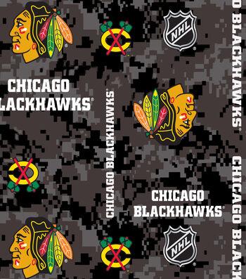"Chicago Blackhawks Fleece Fabric 60""-Digital Camo"