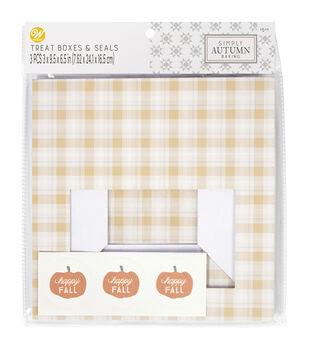 Wilton Simply Autumn Treat Boxes-Toss Plaid