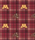 University of Minnesota Gophers Fleece Fabric -Plaid