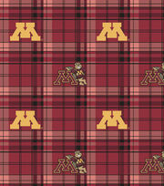 "University of Minnesota Gophers Fleece Fabric 58""-Plaid, , hi-res"
