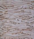 Casa Collection Gianna Sequin Dangles on Mesh Fabric