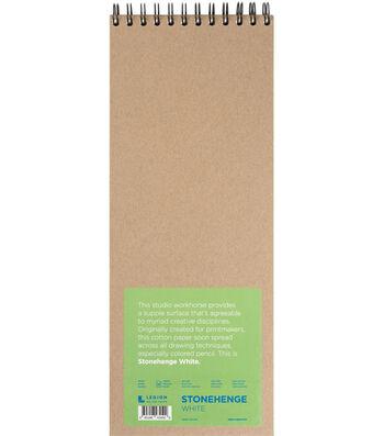 Stonehenge 32-sheet 6''x15'' 90 lbs. Spiral Paper Pad-White