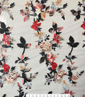 Check It Navy Embroidered Floral Mesh Fabric 55\u0022