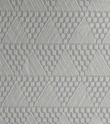 Lace Knit Fabric-Gray Triangles