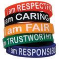 Character Traits Wristband Pack, 10 Per Pack, 6 Packs