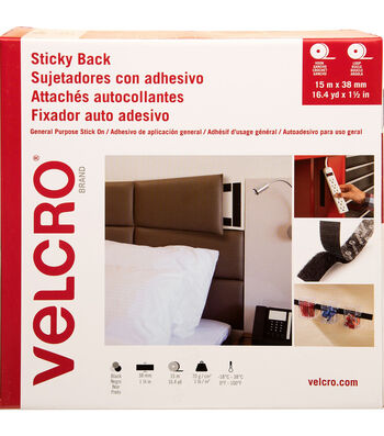 VELCRO Brand Sticky Back Hook & Loop Tape 38mmX15m-Black