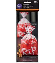 Wilton Halloween 20 pk Party Bags-RIP, , hi-res