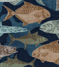 Snuggle Flannel Fabric -Fishes On Camo