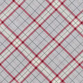 Snuggle Flannel Fabric -Gray & Red Riley Plaid