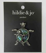 hildie & jo Metal & Shell Turtle Pendant, , hi-res