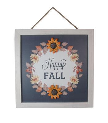 Simply Autumn Wall Decor-Navy Sunflower Happy Fall