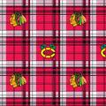 Chicago Blackhawks Fleece Fabric -Plaid