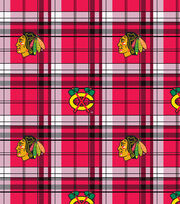 "Chicago Blackhawks Fleece Fabric 60""-Plaid, , hi-res"