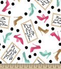There\u0027s No Such Thing As Too Many Shoes Print Fabric
