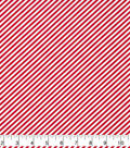 Christmas Cotton Fabric-Red & White Candy Cane Stripes