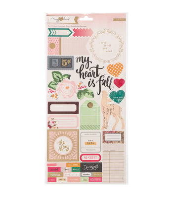 Crate Paper Maggie Holmes Open Book Accent & Phrase Cardstock Stickers