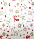 Harry Potter Metallic Flannel Fabric 42\u0022-Ornaments