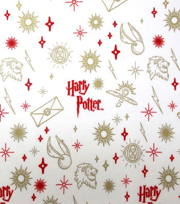 Christmas Harry Potter Metallic Flannel Fabric-Ornaments