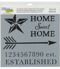 The Crafter\u0027s Workshop 12\u0027\u0027x12\u0027\u0027 Stencil-Home Sweet