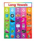 Scholastic Long Vowels Chart 6pk