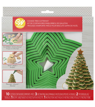 Wilton Holiday Tree Cookie Cutter Set