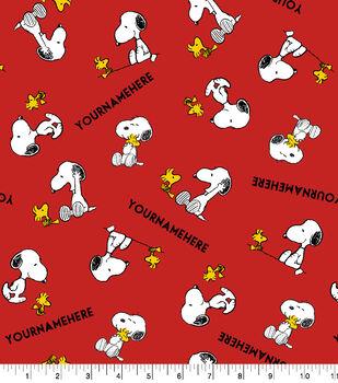 Peanuts Print Fabric by Springs Creative-Snoopy & Woodstock