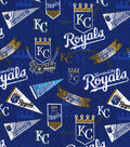 Kansas City Royals Cotton Fabric -Vintage