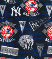 New York Yankees Fleece Fabric-Vintage, , hi-res