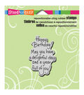 Stampendous Delightful Birthday - Cling Rubber Stamp