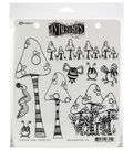 Ranger Dyan Reaveley\u0027s Dylusions Cling Stamps-Toadstool Town