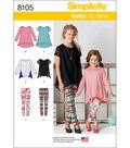 Simplicity Patterns US8105Hh Children-3-4-5-6
