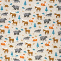 Super Snuggle Flannel Fabric-Baby Forest Animals on Tan