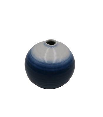 Indigo Mist 4'' Ceramic Vase-Ombre