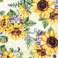 Harvest Cotton Fabric-Autumn Sunflowers