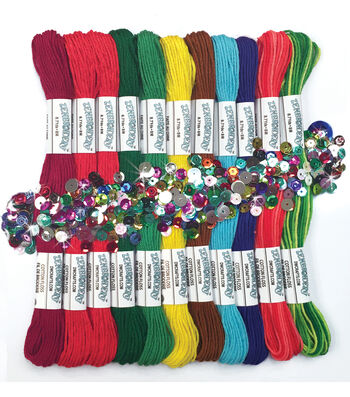 Design Works Zenbroidery Pack of 12 Skeins Christmas Floss