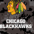 Chicago Blackhawks Fleece Fabric-Digital Camouflage