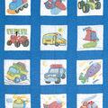 Stamped White Nursery Quilt Blocks 9\u0022X9\u0022 12/Pkg-Transportation