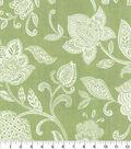 Waverly Upholstery Décor Fabric-Stencil Vine Celery