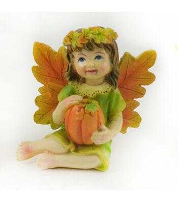 Simply Autumn Littles Fairy with Pumpkin