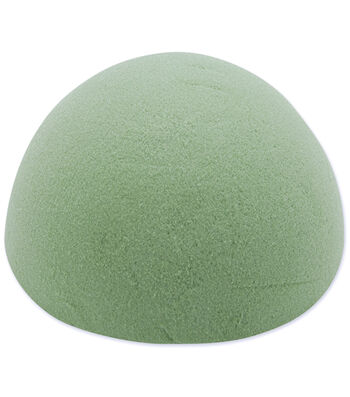 "Dry Foam Half Ball 6""X3"" 1Pk-Green"