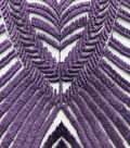 Embellished Mesh Fabric-Blackberry Wine