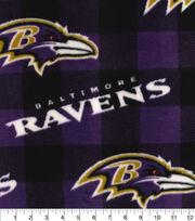 Baltimore Ravens Fleece Fabric-Buffalo Plaid, , hi-res