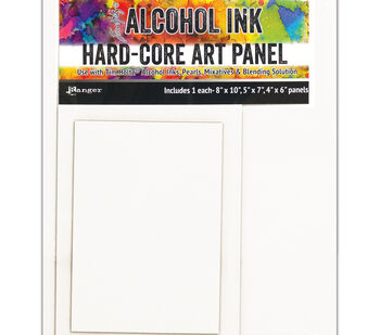 Tim Holtz Alcohol Ink Hard Core Art Panel 3/Pkg-Rectangle 4''X6'', 5''X7