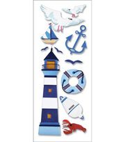 A Touch Of Jolee's A Day At The Beach Dimensional Stickers-Lighthouse, , hi-res